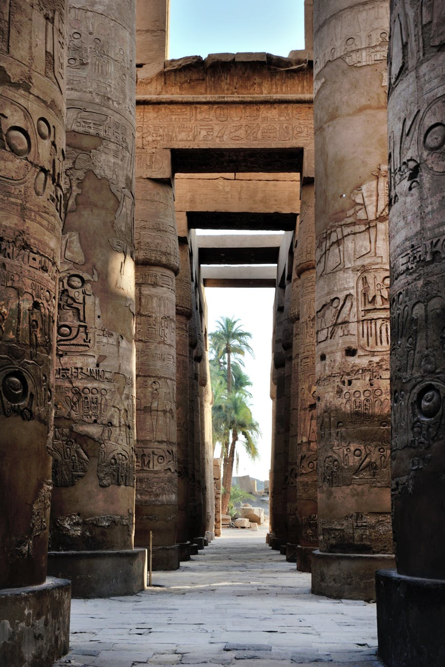 ancient column corridor